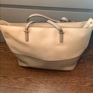 Authentic taupe Kate Spade purse